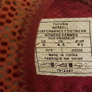 Merrell Shoes - Merrell Fuschia Peach Mary Jane Slip On Shoes